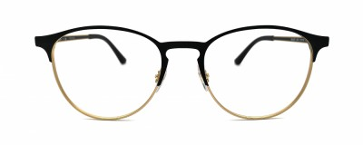 Monture ronde Ray-Ban – Unisexe – Métal noir et or
