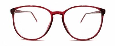 Monture ronde – Vintage – Plastique rouge transparent