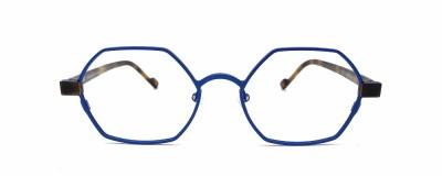 Monture hexagonale Vanni - Métal bleu électrique