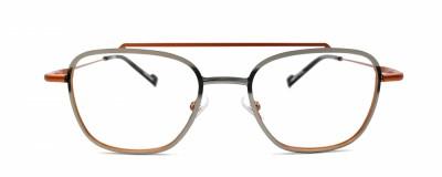Monture carrée JF Rey – Homme – Double pont orange