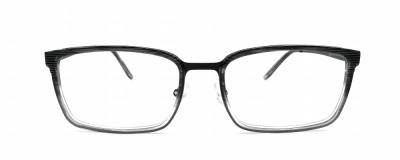 Monture rectangle Derapage - Homme - Dégradé noir à transparent