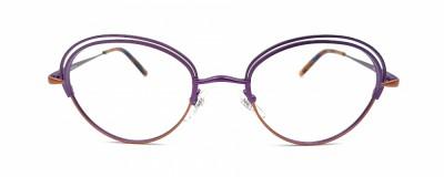 Monture ovale Lafont – Violet et orange