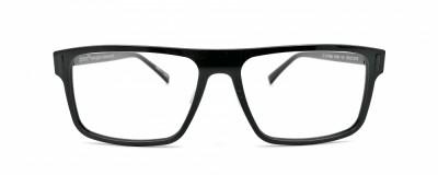 Monture rectangle Glossi – Homme – Noir éclatant