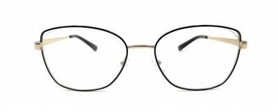 Monture rectangle Michael Kors – Métal noir et or