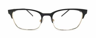 Monture rectangle Dolce & Gabbana – Unisexe – Noir mat et or