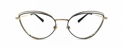 Monture œil-de-chat Dolce & Gabbana – Pointes noire et or