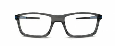 Monture rectangle Oakley - Homme – Gris transparent et bleu