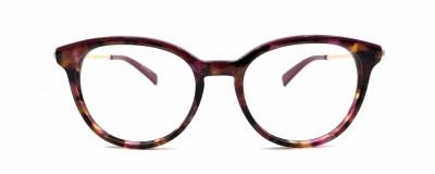 Monture ronde Longchamp – Tortoise avec touche de violet et rose