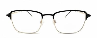 Monture rectangle – Homme – Métal noir et or
