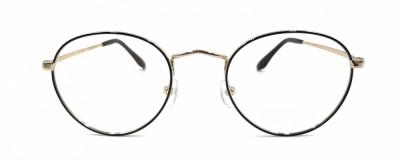 Monture ovale – Unisexe - Métal noir et or