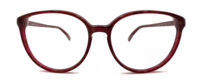 Monture papillon – Vintage – Rouge et bourgogne