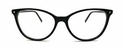 Monture œil-de-chat – Plastique noir délicat