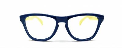 Monture pointue Oakley – Enfant - Plastique bleu et jaune