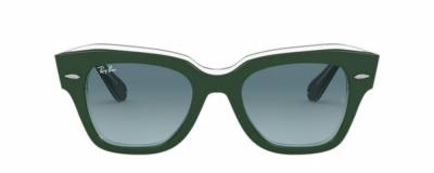 Monture œil-de-chat Ray Ban – Plastique vert forêt