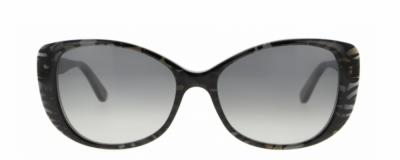 Monture rectangle Vanni – Plastique noir et gris translucide