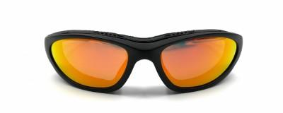 Lunettes de moto Wiley X - Effet miroir orange