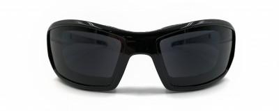Lunettes de moto Wiley X - Unisexe - Plastique noir lustré