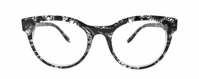 Monture ronde Dolce & Gabbana - Transparent avec effet dentelle noire