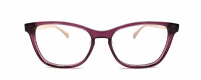 Monture oeil-de-chat Longchamp - Devant violet transparent