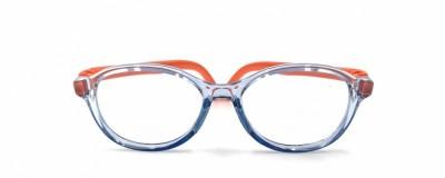 Monture ronde Nano bleu pâle et orange - Enfant - Ultra résistante