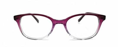 Monture ovale - Enfant - Dégradé violet à transparent
