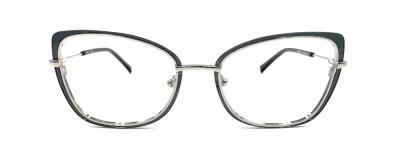 Monture oeil-de-chat MCM - Métal avec plastique gris transparent